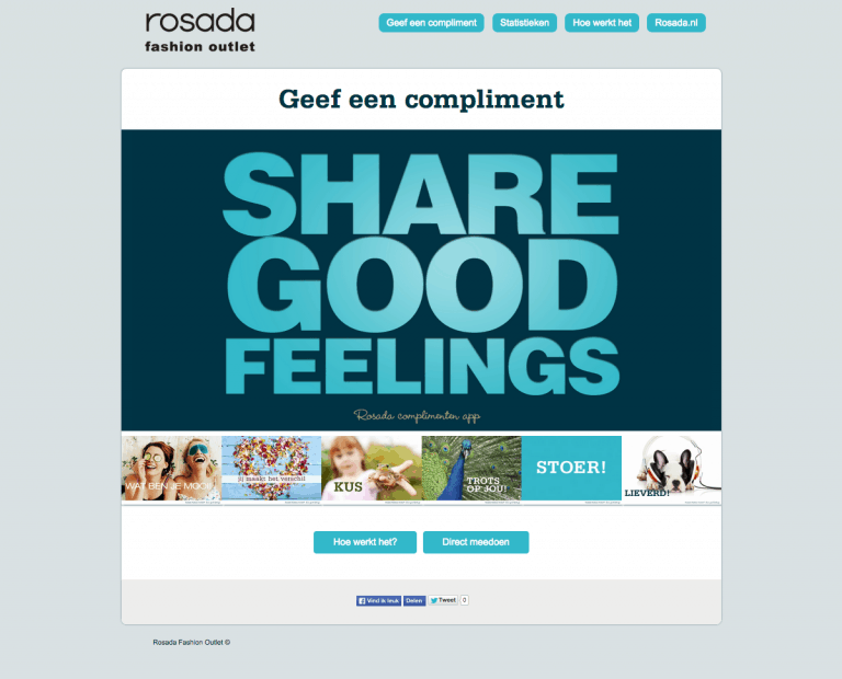 rosada share good feelings
