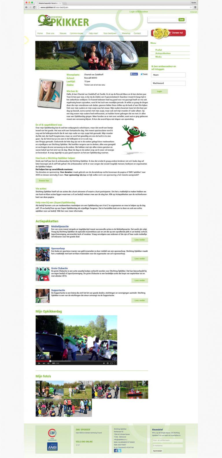 Stichting Opkikker ambassadeur profielpagina